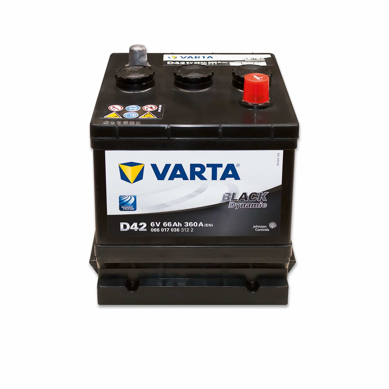 varta d42w black dynamic 6v 66ah online battery. Black Bedroom Furniture Sets. Home Design Ideas